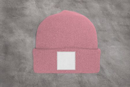 View of a Mock up of wool beanie