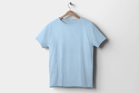 View of a T-shirt Mockup isolated on a background Banco de Imagens - 129469317