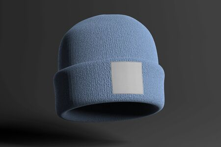 View of a Mock up of wool beanie Banco de Imagens - 129469412