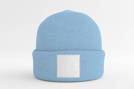 View of a Mock up of wool beanie Banco de Imagens - 129469445