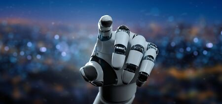 View of a Robot Hand Cyborg - 3d rendering 스톡 콘텐츠