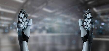 View of a Robot Hand Cyborg - 3d rendering Zdjęcie Seryjne