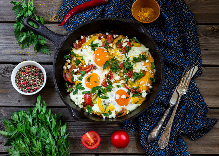 huevo: Huevos escalfados con vegetablesnamed