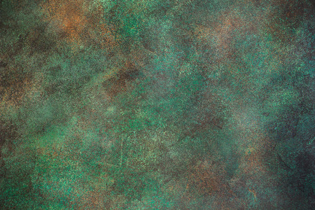Dark green concrete background. Green wall background texture Imagens