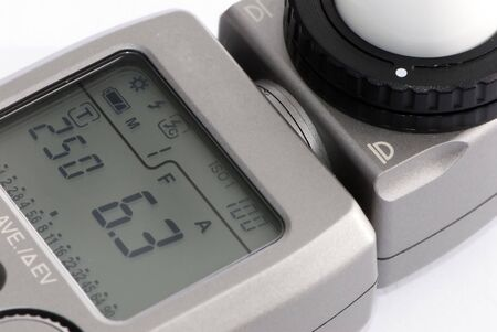 A close up view of a FlashLight meter photo
