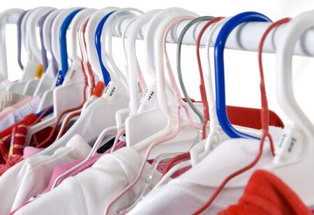 closets: Toddlers clothes hang in the laundry room....a never ending supply...
