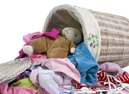 A small childs bunny makes a trip to the laundry Stock Photo - 587978