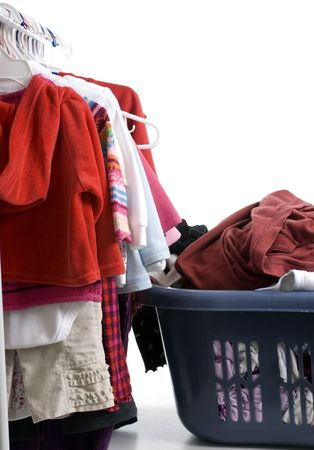 The never ending chore of laundry... When some is done... more is on the way Stock Photo - 623885