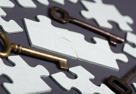Putting all the pieces together is the key to success Stock Photo - 623741