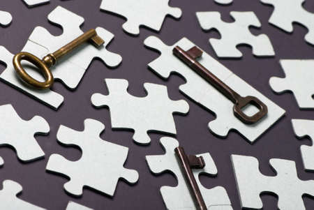 Putting all the pieces together is the key to success Stock Photo - 623742