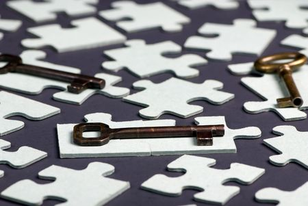 Putting all the pieces together is the key to success Stock Photo - 623743