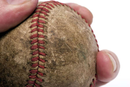 get one: A well worn baseball is about to get one more throw