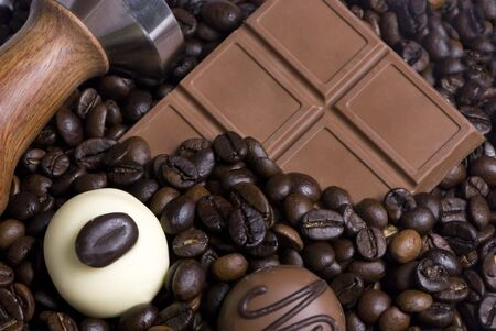 satisfying: Two of the best things in life.... Coffee and chocolate