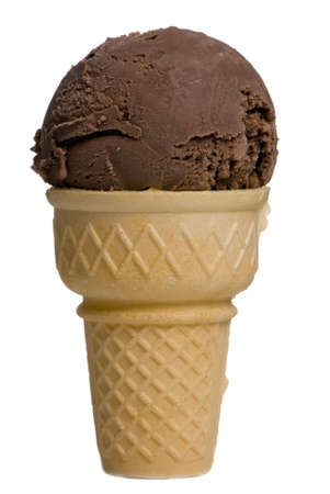 A chocolate ice cream cone begs to be eaten