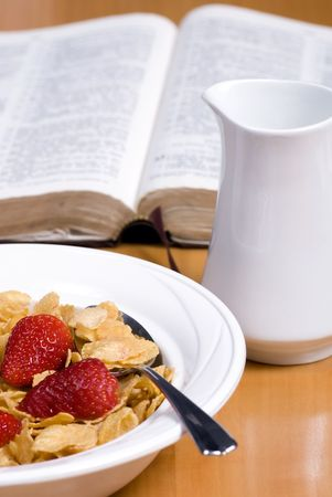 in low spirits: A healthy start to the day... good for the body and soul Stock Photo