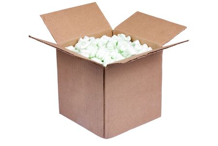 A box full of shipping foam and ready to ship.