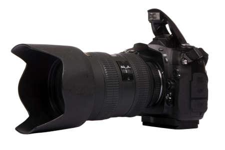 画像の準備ができてプロのデジタル一眼レフ カメラ。 写真素材