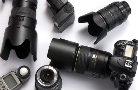 The tools of the trade for a professional photographer. Stock Photo - 792538
