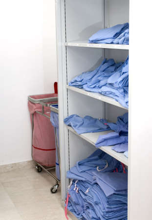 Dental scrubs await the next patient (all sizes from small to large)