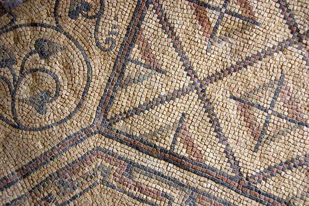 Ancient mosaics in a church in northern Croatia.