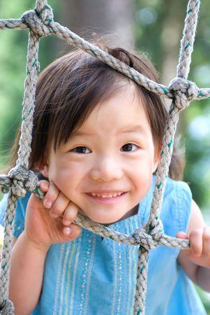 Une jeune fille de plus en plus. Enfance, l'apprentissage, l'exploration.  Banque d'images - 1269141