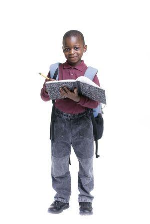 Eine African American Student bereit für die Schule. Bildung, Lernen  Standard-Bild - 3482220