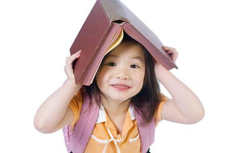 Ein junges Mädchen ist bereit für die Schule. Bildung, Zukunft Standard-Bild - 3495669