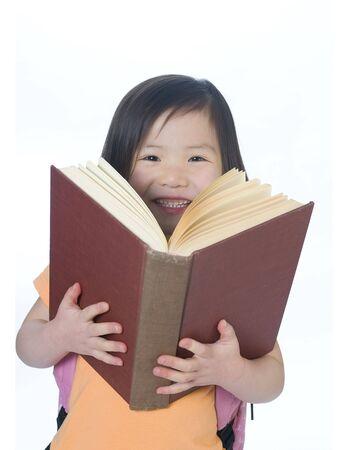 Ein junges Mädchen ist bereit für die Schule. Bildung, Zukunft Standard-Bild - 3495704