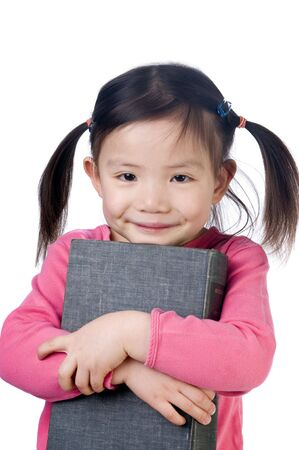 A young girl is ready for school. Education, Future photo