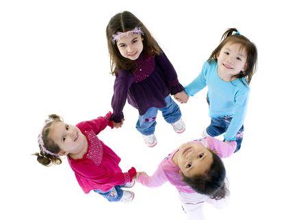 girotondo bambini: Crescono e bambini. Divertimento, esplorazione, scoperta, della giovent�  Archivio Fotografico