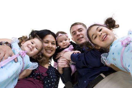 A happy family. Bonding, , marriage, children Stock Photo - 3495720