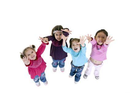 子供と育ちます。楽しい、探査、発見、青少年 写真素材
