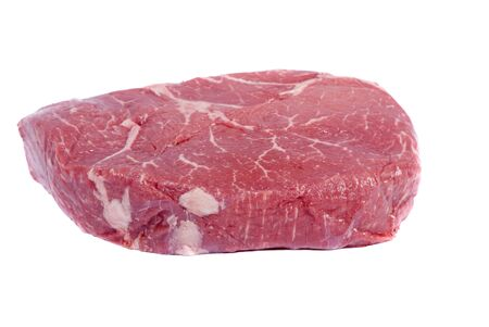 A thick slab of top sirloin steak.. ready to be grilled Stok Fotoğraf