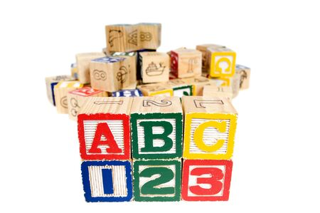 Wooden blocks spell out your future. Education and School photo