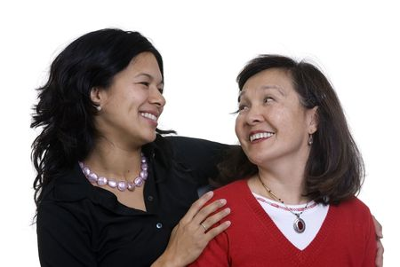 A mother and daughter sharing a moment. Love, bonding, family Stock Photo - 3523430
