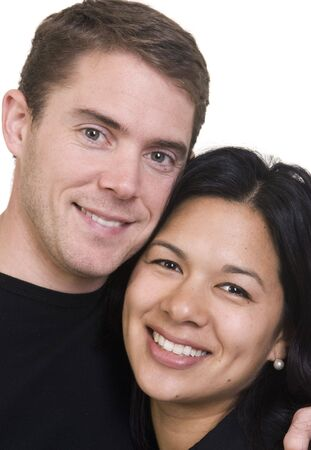 A happy couple. Husband and wife. Diversity photo
