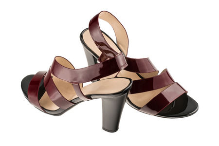 Womens patent leather sandals 版權商用圖片