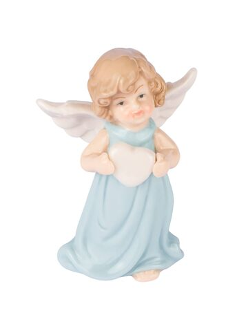 Pretty Guardian angel with heart