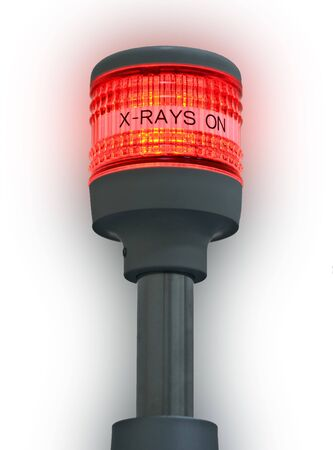 View of the signal warning x-rays are on Stock Photo - 3496354