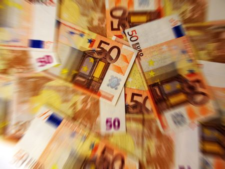 fifty euro banknote: fifty-Euro banknote as background