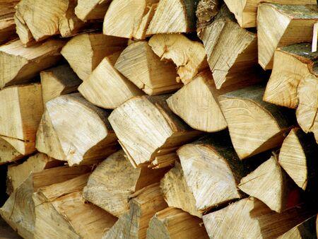 bioenergy: Pile of firewood as background