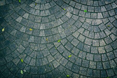 Curve mosaic texture floor, Vintage style