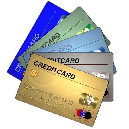 prestige: set of creditcards