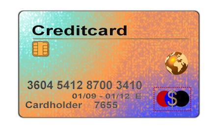 creditcard: colorful creditcard