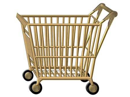 golden shopping cart Stock Photo - 4532258