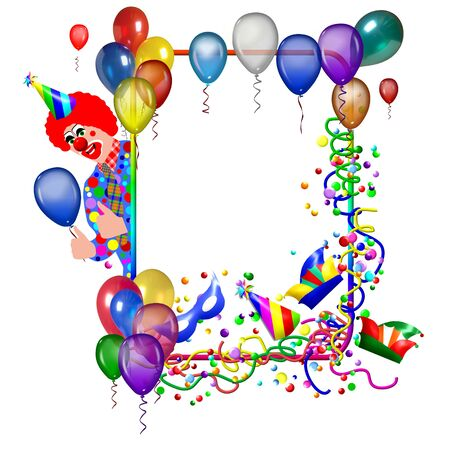 colored balloons: Birthday or party poster