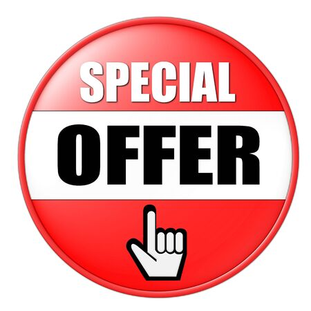 onlineshop: special offer button Stock Photo