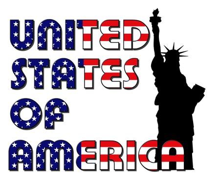 lady liberty: EEUU - dama libertad sobre fondo blanco
