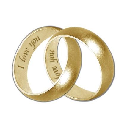 wedding bands: bandas de boda de oro