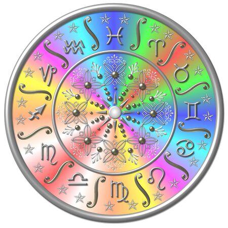 scorpio: zodiac disc Stock Photo
